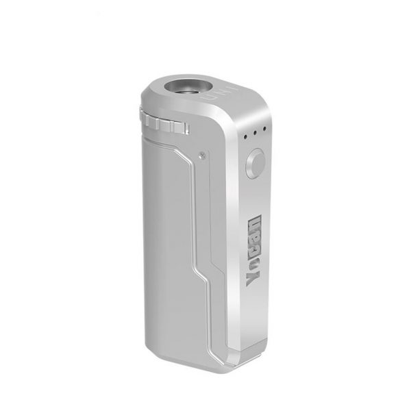 Yocan UNI Universal Portable Vaporizer Box Mod THC Oil Cartridges CBD Oil Cartridges Vape Pen Battery Yocan UNI 510-thread box battery offers ultimate protection and discretion for your oil cartridges Silver