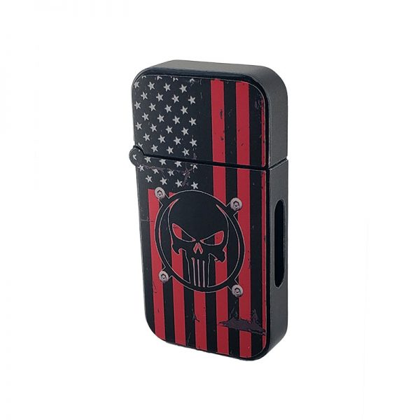 ZOLO-B oil cartridge battery with red american flag black punish badge design