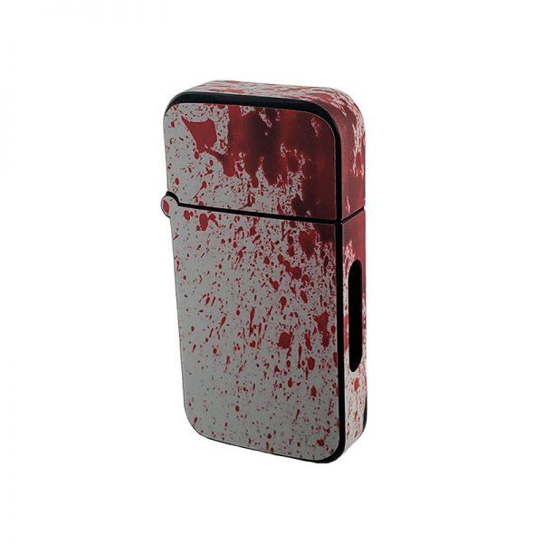 ZOLO-B oil cartridge battery with blood spatter dexter design