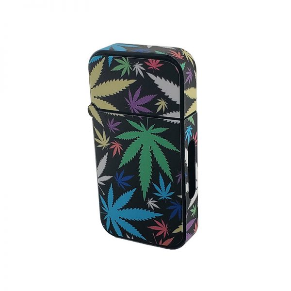 ZOLO-B oil cartridge battery with colorful weed leaves design