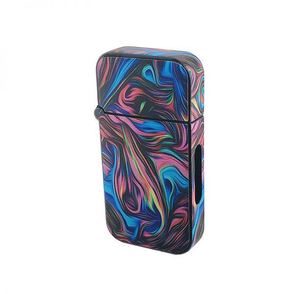 ZOLO-B oil cartridge battery with neon swirl glass design