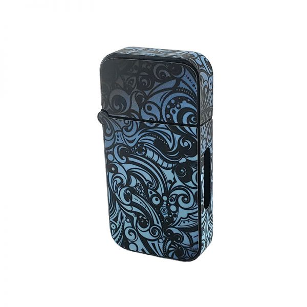 ZOLO-B oil cartridge battery with blue grey paisley design
