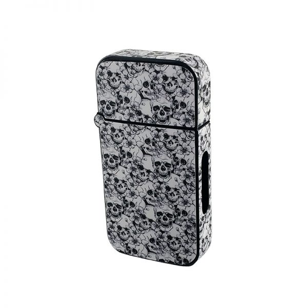 ZOLO-B oil cartridge battery with black and white skulls design