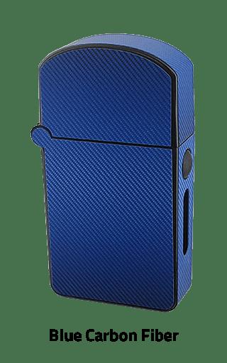 ZOLO-S oil cartridge battery with Blue Carbon Fiber design