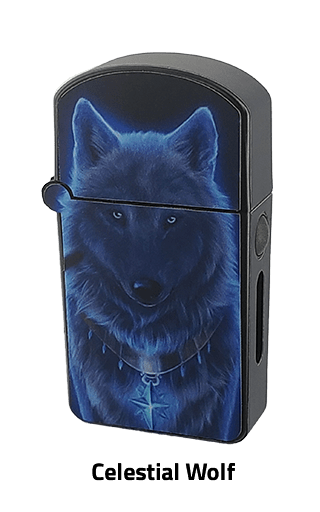 ZOLO-S oil cartridge battery with Celestial Wolf design
