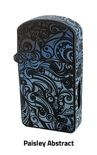 ZOLO-S oil cartridge battery with Paisley Abstract design