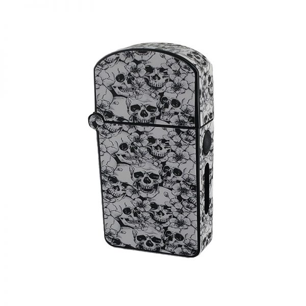 ZOLO-S oil cartridge battery with black and white skulls design