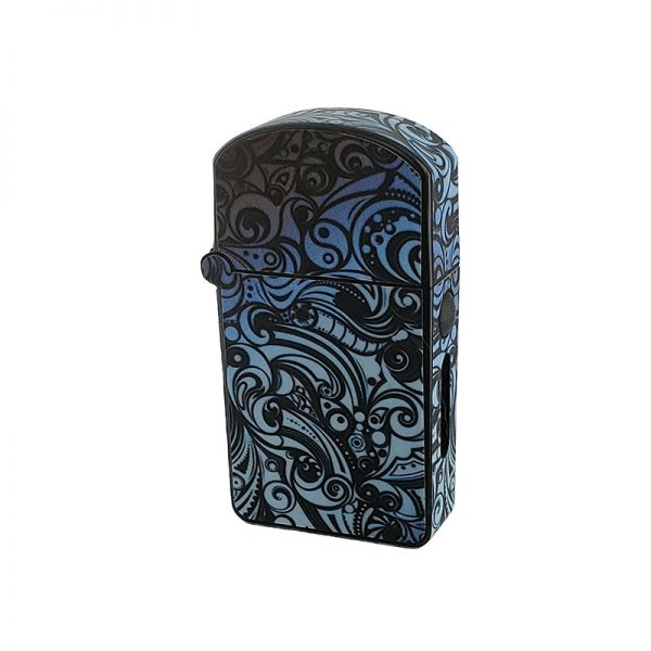 ZOLO-S oil cartridge battery with blue grey paisley design