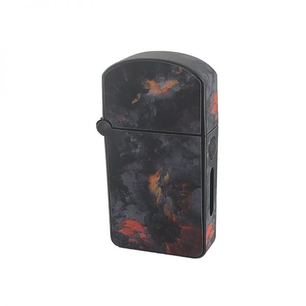 ZOLO-S oil cartridge battery with grey fire clouds design
