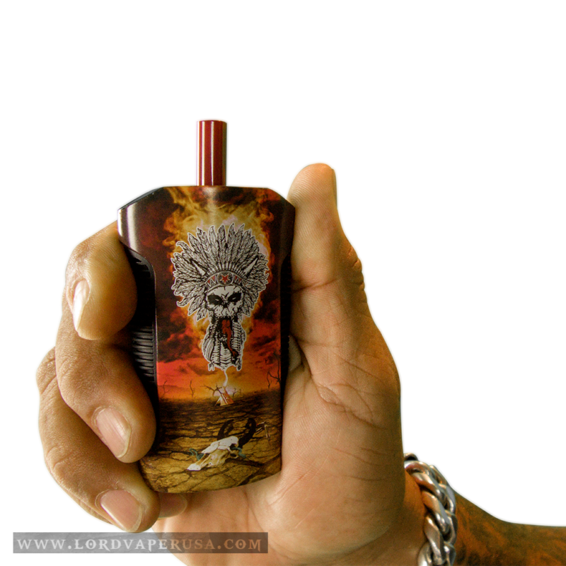 The Chief Chuck Billy Signature Series War Drum 2-in-1 Vaporizer for cannabis and wax concentrates weed pot marijuana