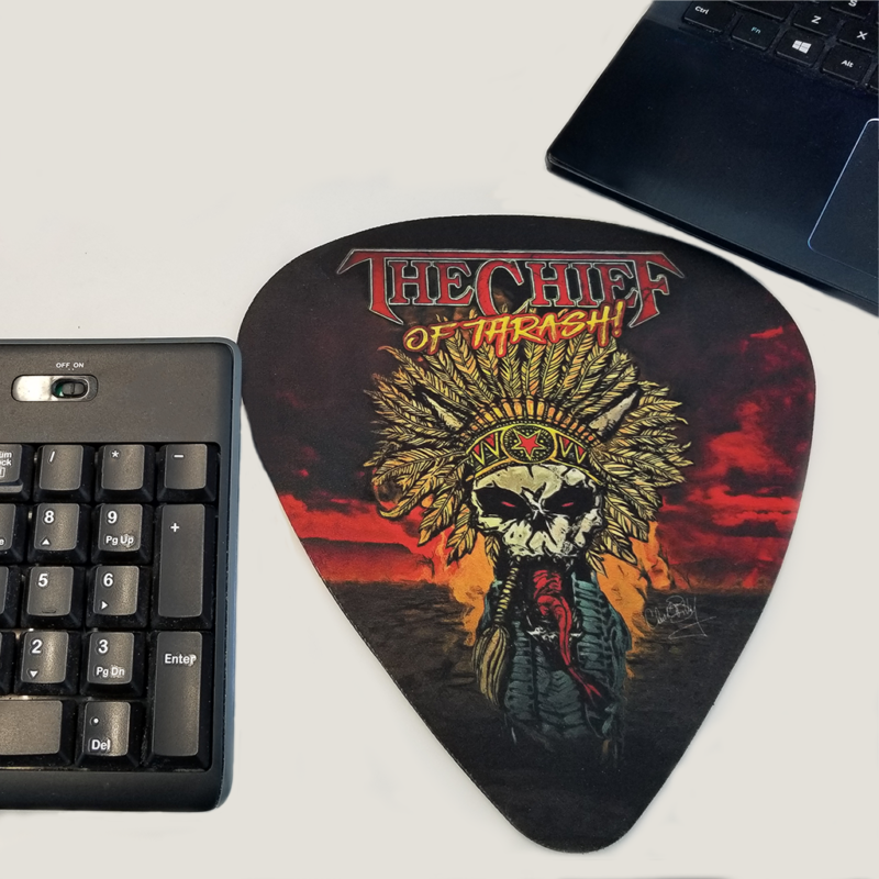 Chuck Billy The Chief Of Thrash Merchandise Collection Mousepad gifts him her metal head computer