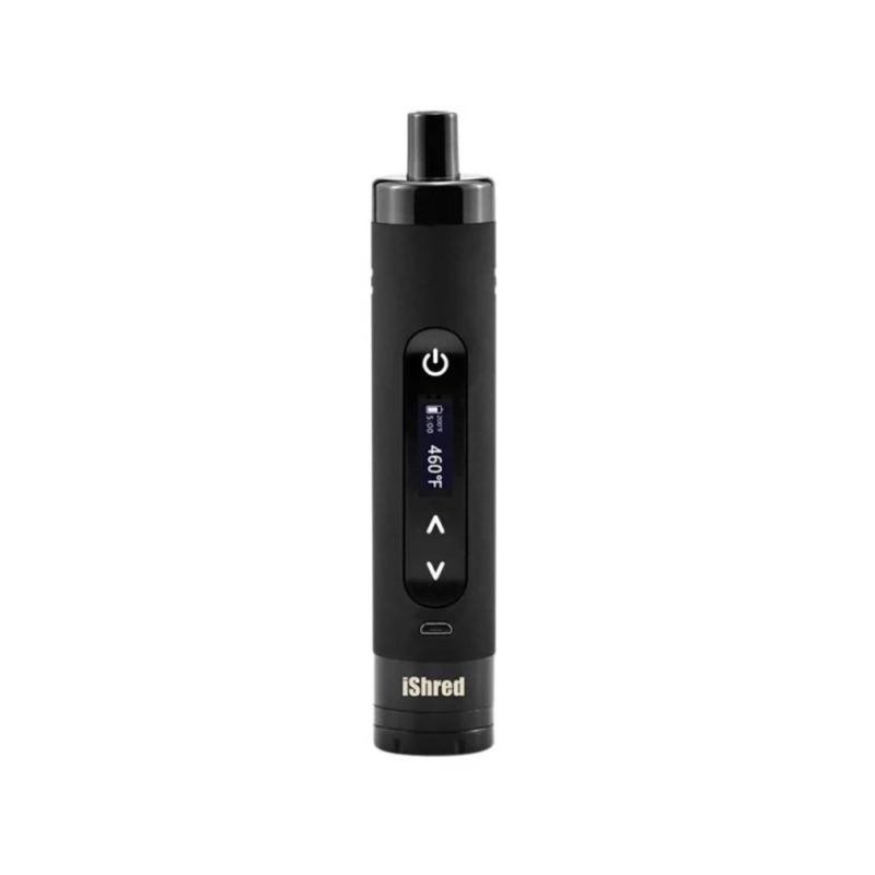 Yocan iShred dry herb vaporizer with built-in grinder in black