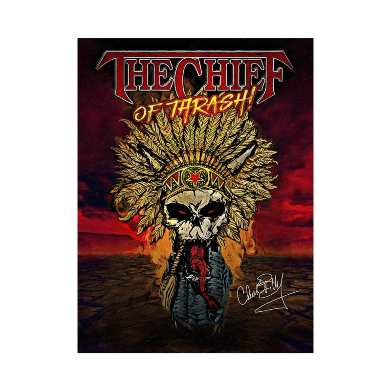 Chuck Billy print from The Chief of Thrash! merchandise collection