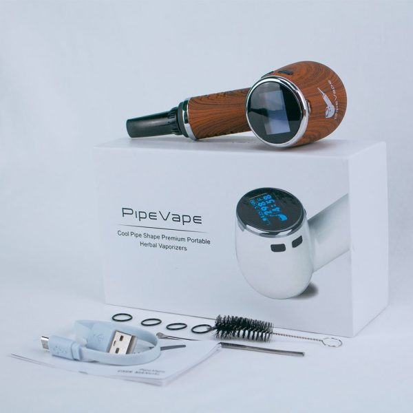 PipeVape dry herb vaporizer package contents