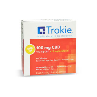Trokie 100mg CBD lozenges with Melatonin that melt away pain with highest bio-availability and highest absorption rate