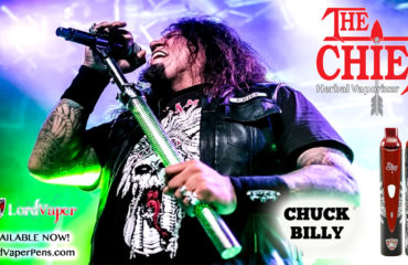 Chuck Billy lead vocalist of Testament launches 1st-gen dry herb vaporizer