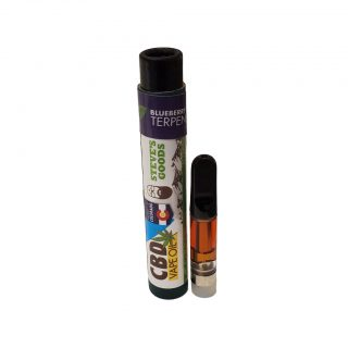Steve's Goods CBD vape cartridge 1ml with 650mg total cannabinoids in Blueberry OG strain