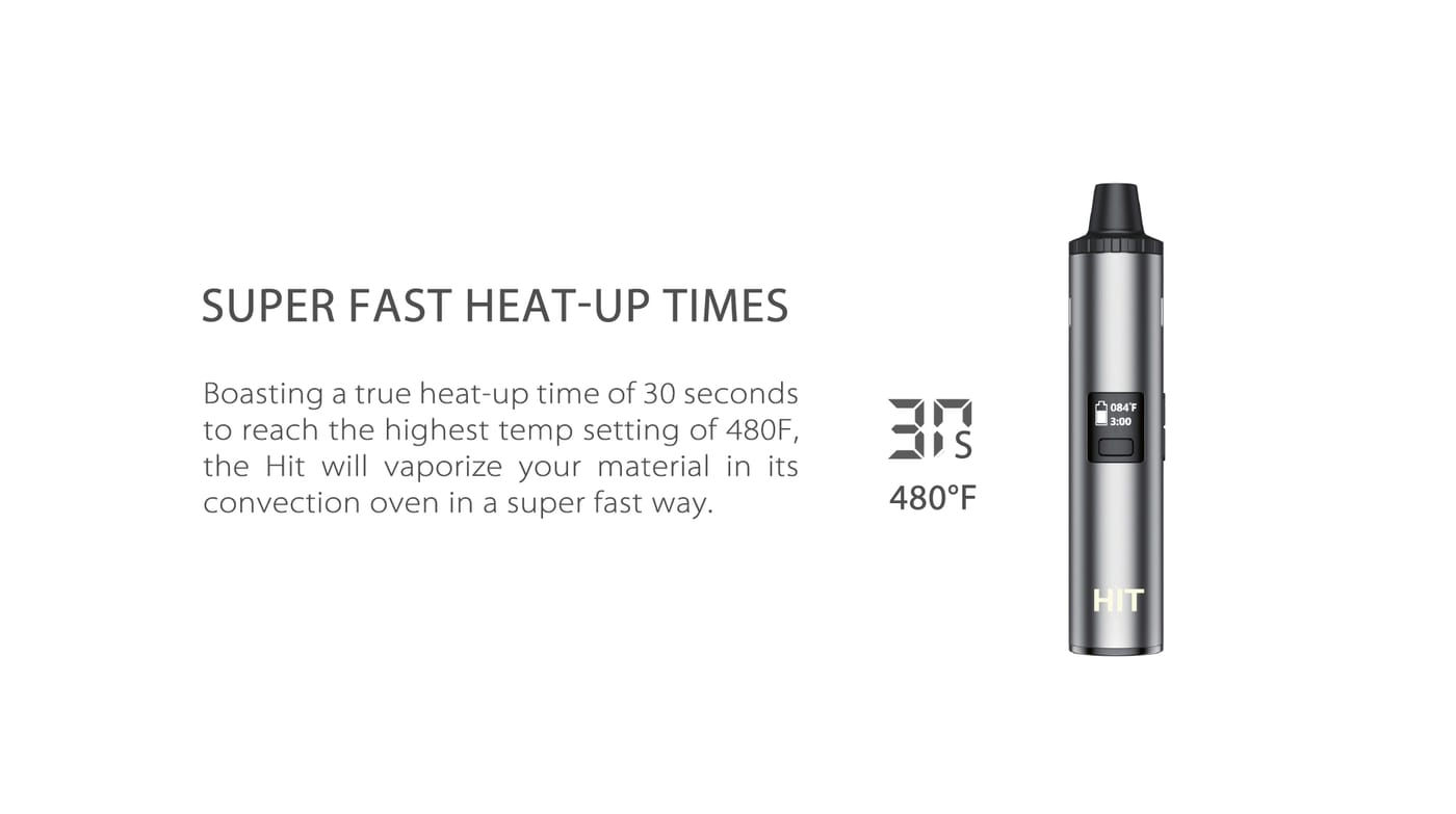 Yocan HIT dry herb vaporizer with convection-style heating, fast heat up