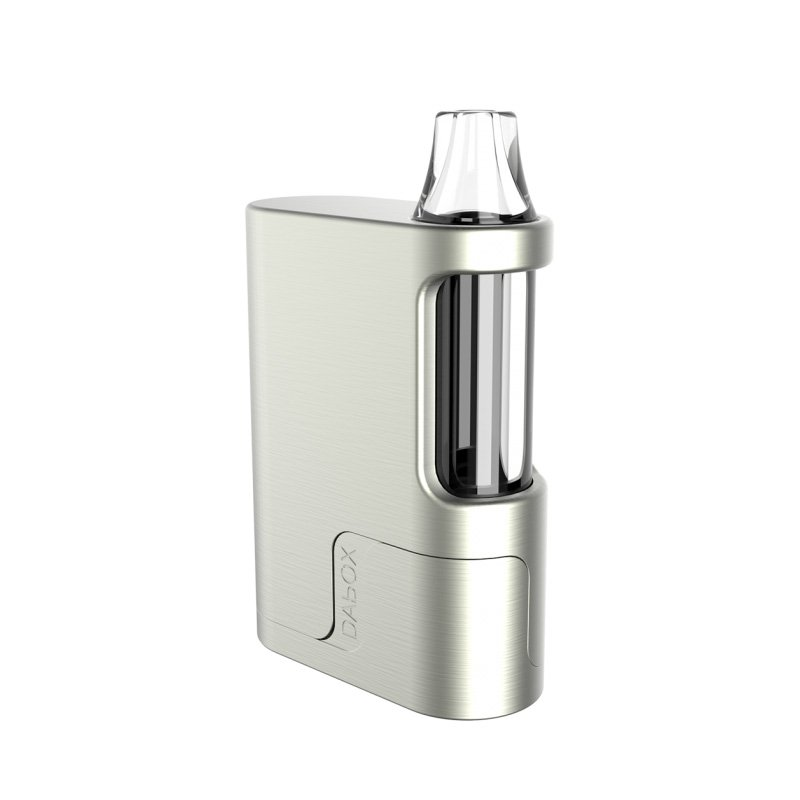 Vivant DAbOX Concentrates Portable Compact Vaporizer in plated silver