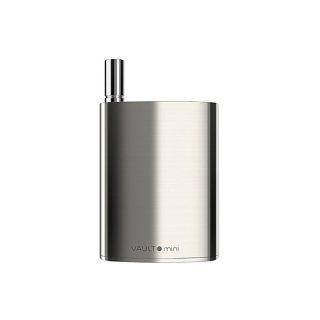 Vivant Vault Mini oil/wax 510 thread vaporizer with adjustable voltage including single quartz wax atomizer tank in silver