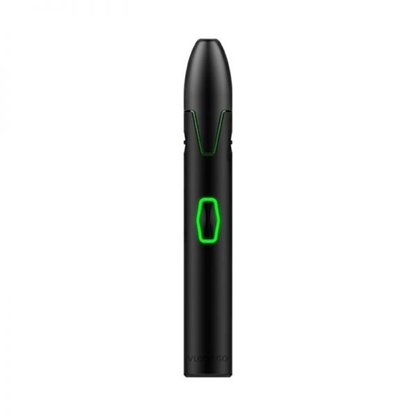 Vivant Vleaf Go dry herb vaporizer powered on at the lowest temperature