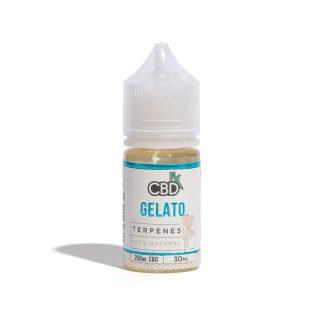 CBDfx Gelato CBD Terpenes Vape oil in 30ml bottle with 250mg broad-spectrum CBD and Gelato terpenes