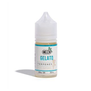 CBDfx Gelato CBD Terpenes Vape oil in 30ml bottle with 500mg broad-spectrum CBD and Gelato terpenes