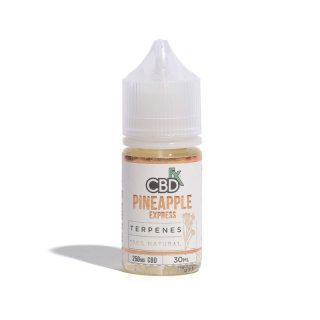 CBDfx Pineapple Express CBD Terpenes Vape oil in 30ml bottle with 250mg broad-spectrum CBD and Pineapple Express terpenes