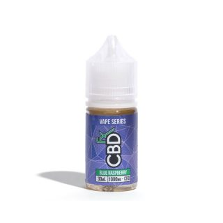 CBDfx Blue Raspberry CBD Vape juice in 30ml bottle with 1000mg CBD