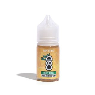 CBDfx Fruity Cereal CBD Vape juice in 30ml bottle with 1000mg CBD