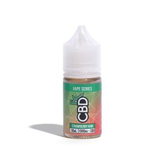 CBDfx Strawberry Kiwi CBD Vape juice in 30ml bottle with 1000mg CBD