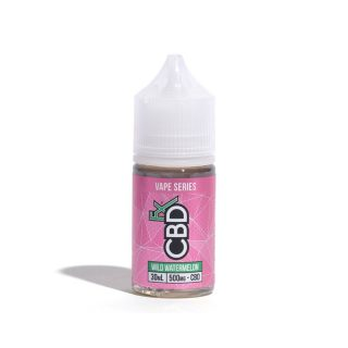 CBDfx Wild Watermelon CBD Vape juice in 30ml bottle with 500mg CBD
