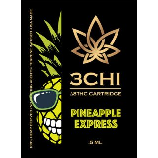 3Chi delta 8 THC vape cartridge with pineapple express strain profile in 0.5ml size