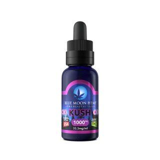 Blue Moon Hemp Kush CBD Vape juice in 30ml bottle with 1000mg CBD