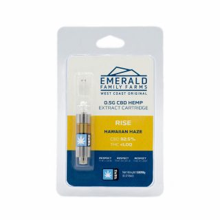 Emerald Family Hemp CBD Hawaiian Haze oil cartridge