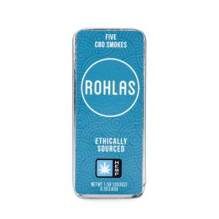 Rohlas Blue CBD Smokes 5-pack of .3g pre-rolls with 130mg CBD and a smokable herbal blend