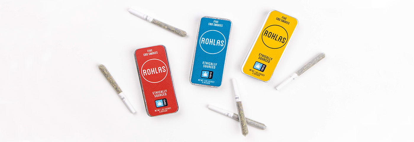 Rohlas CBD Smokes with a blended combination of CBD flower and smokable herbs