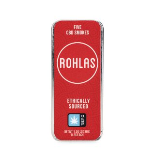 Rohlas Red CBD Smokes 5-pack of .3g pre-rolls with 130mg CBD and a herbal