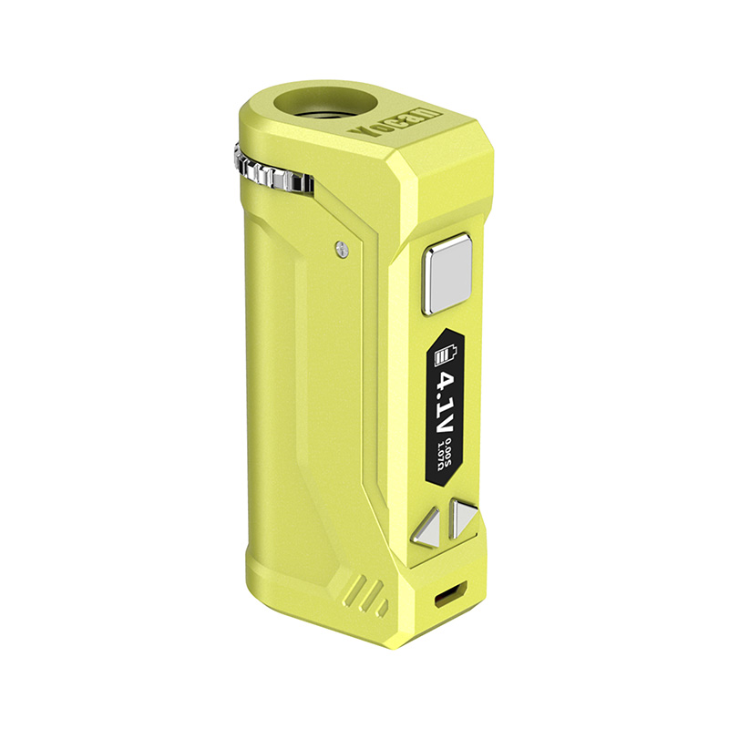 Yocan UNI Pro Box Mod Universal Portable Vaporizer for THC and CBD Oil Cartridges, Vape Pen Battery Yocan UNI Pro 510 thread box mod offers ultimate protection and discretion for your oil cartridges in Apple Green