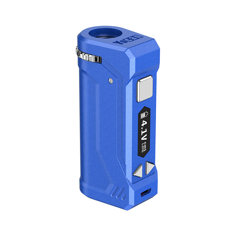 Yocan UNI Pro Box Mod Universal Portable Vaporizer for THC and CBD Oil Cartridges, Vape Pen Battery Yocan UNI Pro 510 thread box mod offers ultimate protection and discretion for your oil cartridges in Dark Blue