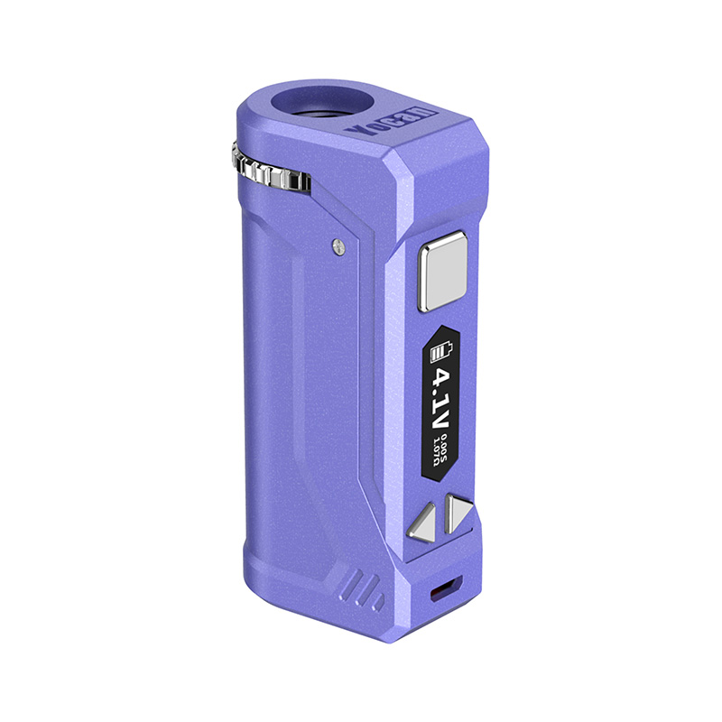 Yocan UNI Pro Box Mod Universal Portable Vaporizer for THC and CBD Oil Cartridges, Vape Pen Battery Yocan UNI Pro 510 thread box mod offers ultimate protection and discretion for your oil cartridges in Purple