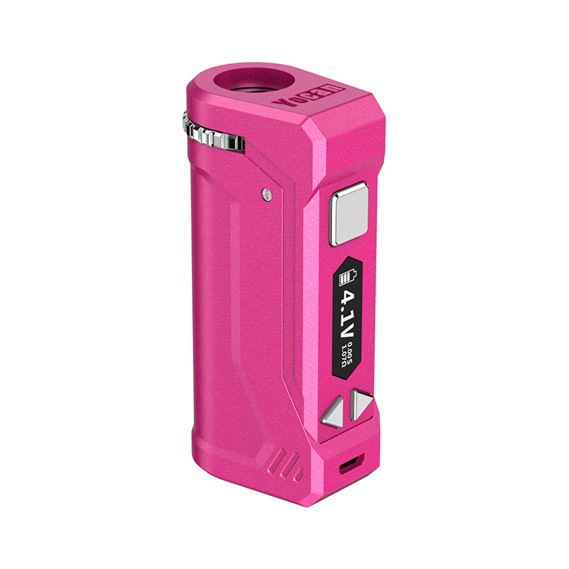 Yocan UNI Pro Box Mod Universal Portable Vaporizer for THC and CBD Oil Cartridges, Vape Pen Battery Yocan UNI Pro 510 thread box mod offers ultimate protection and discretion for your oil cartridges in Rosy